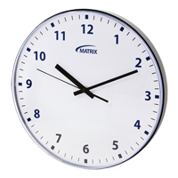 12 H Battery Operated Wall Clock OP237 | Caster Town